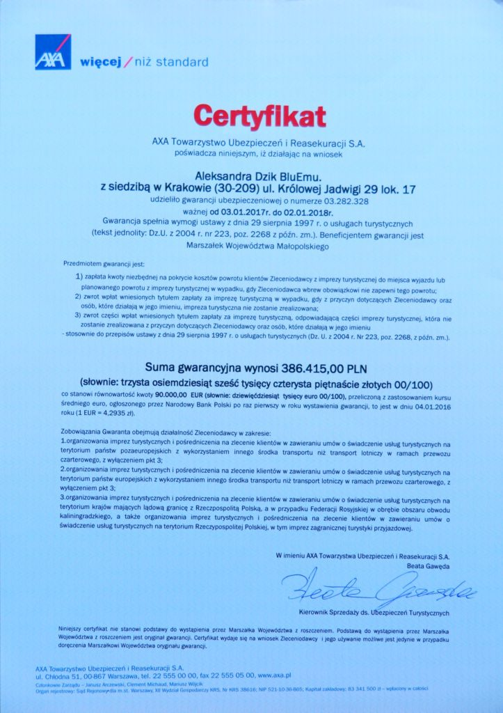Certyfikat2017Axa